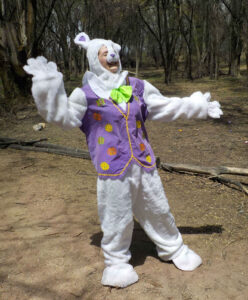 Person in rabbit costume