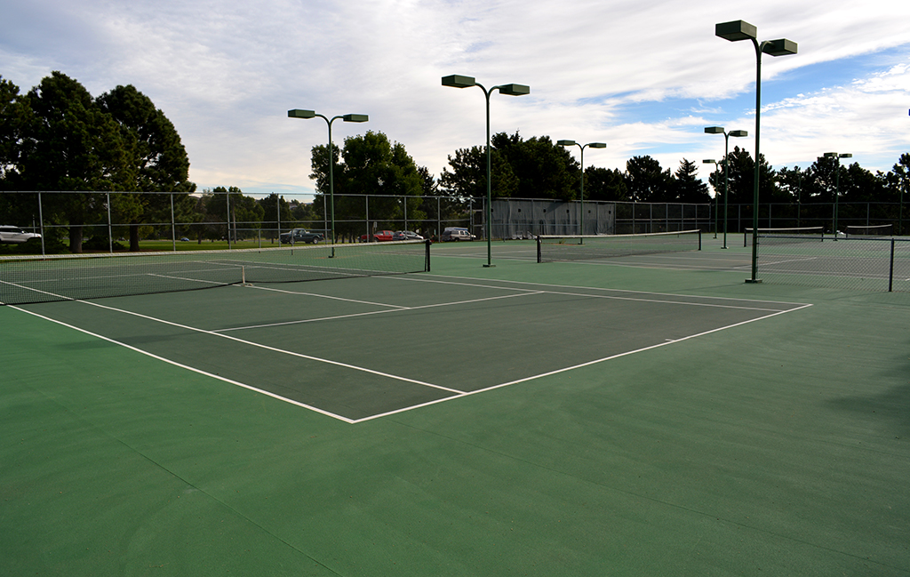 tennis courts inside