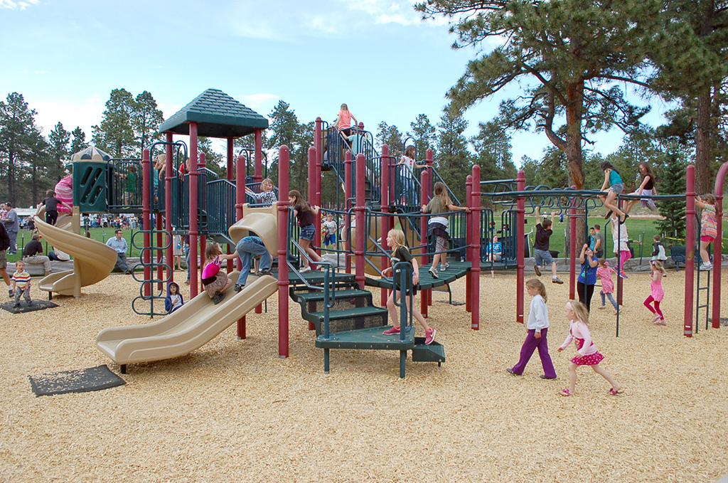 Black Forest playground with kids