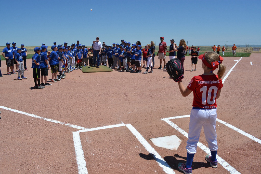 Falcon Regional Park opening day, first pitch.