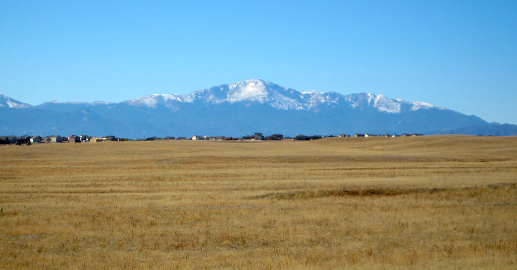Pikes Peak from Falcon Regional Park