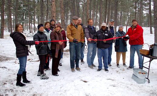 Fox Run Dog Park ribbon cutting