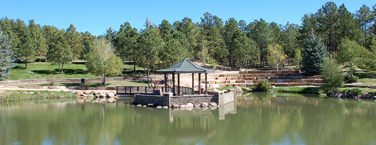 Fox Run Regional Park Wedding Gazebo and Aspen Lake, a great outdoor wedding venue.