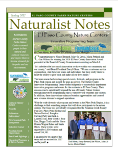 Spring 2017 Naturalist Notes Newsletter